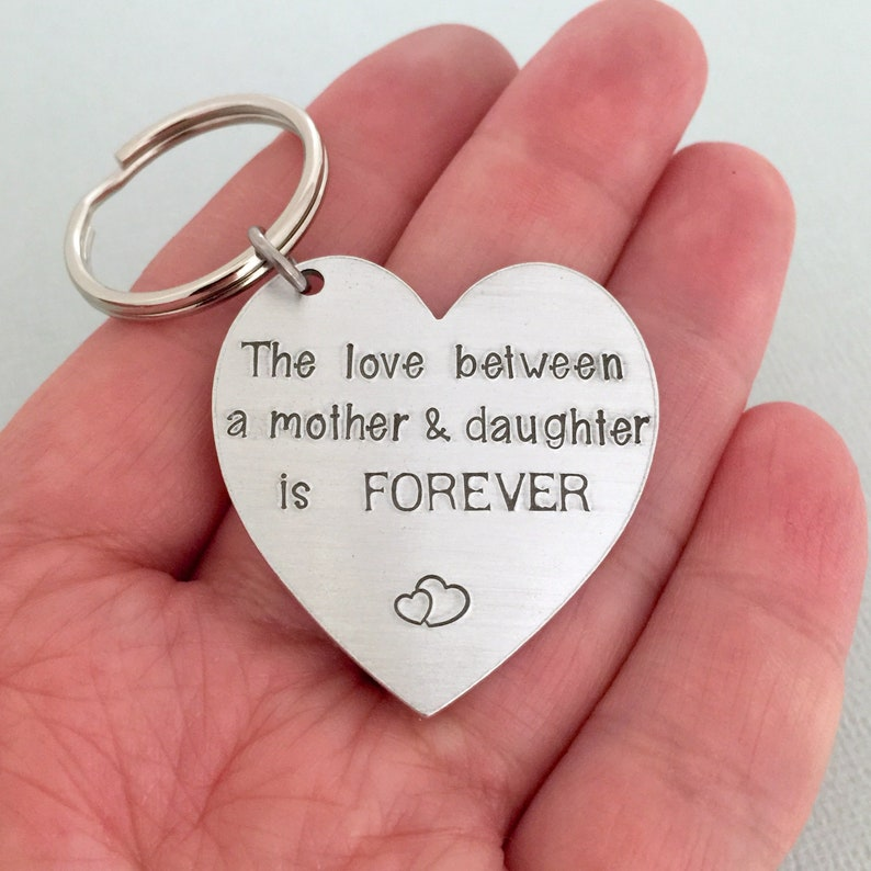 eab04ff007 The Love Between A Mother and Daughter Keychain Mother of The | Etsy