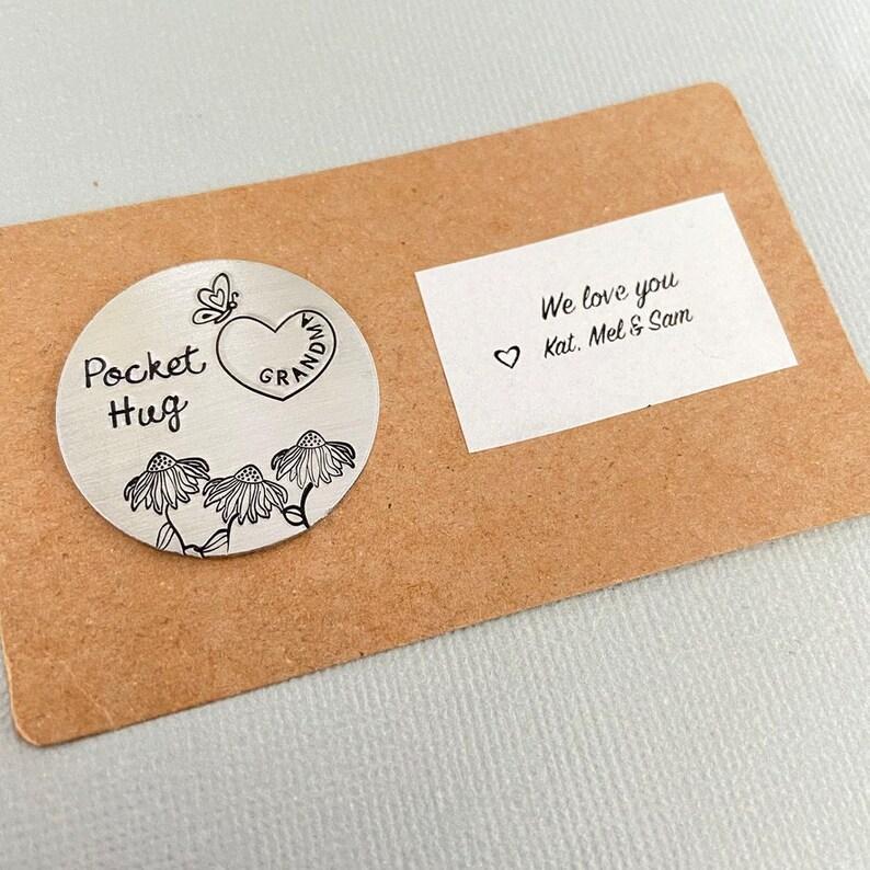 Quarantine Gift Gift for Mom Hug Token Gift Pocket Token Isolation Gift for Grandma Mother/'s Day Gift Pocket Hug Gift Mummy Gift