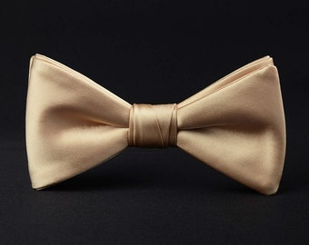 73f55424ce30 champagne bow tie,gold bow tie, satin bow tie,bow tie for men,men's bow tie,groom  bow tie,wedding bow tie,groom's bow tie,groomsmen bow tie