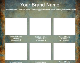 Microsoft Word Line Sheet Instant Download template - Concrete Grunge - by Great Idea Girl