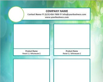 Linesheet templates etsy microsoft word line sheet instant download template beneath the sea 6up by great idea girl maxwellsz