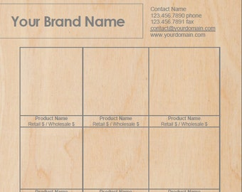 Plywood Luxe - Microsoft Word Line Sheet Instant Download template - by Great Idea Girl