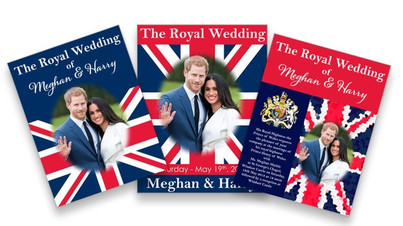 Royal Wedding Poster, Favor, Printable