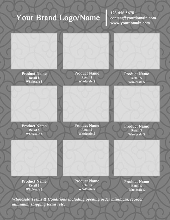 photoshop line sheet instant download template shades of etsy. Black Bedroom Furniture Sets. Home Design Ideas