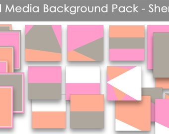 Social Media Graphics Template Pack | Instagram | Facebook | Use with Canva or WordSwag | Social media templates