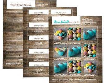 Microsoft Word Business Basics Template Set - Walnut Chic - Linesheet, Order Form, & Business Cards