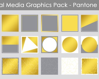 Social Media Graphics Template Pack - Pantone | Instagram | Facebook | Use with Canva or WordSwag | Social media templates