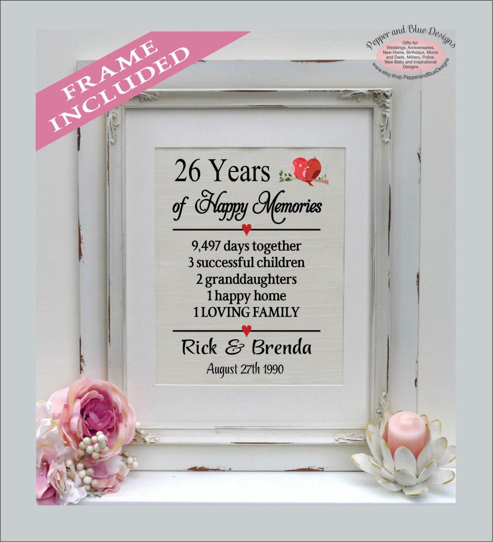 26 years - what wedding
