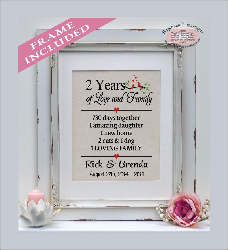 2nd Anniversary Gifts 2 Years 2 Year Anniversary Etsy
