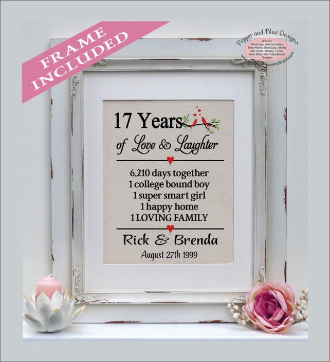 17Th Wedding Anniversary | 17th Wedding Anniversary Gifts 17 Years Married 17 Years Etsy