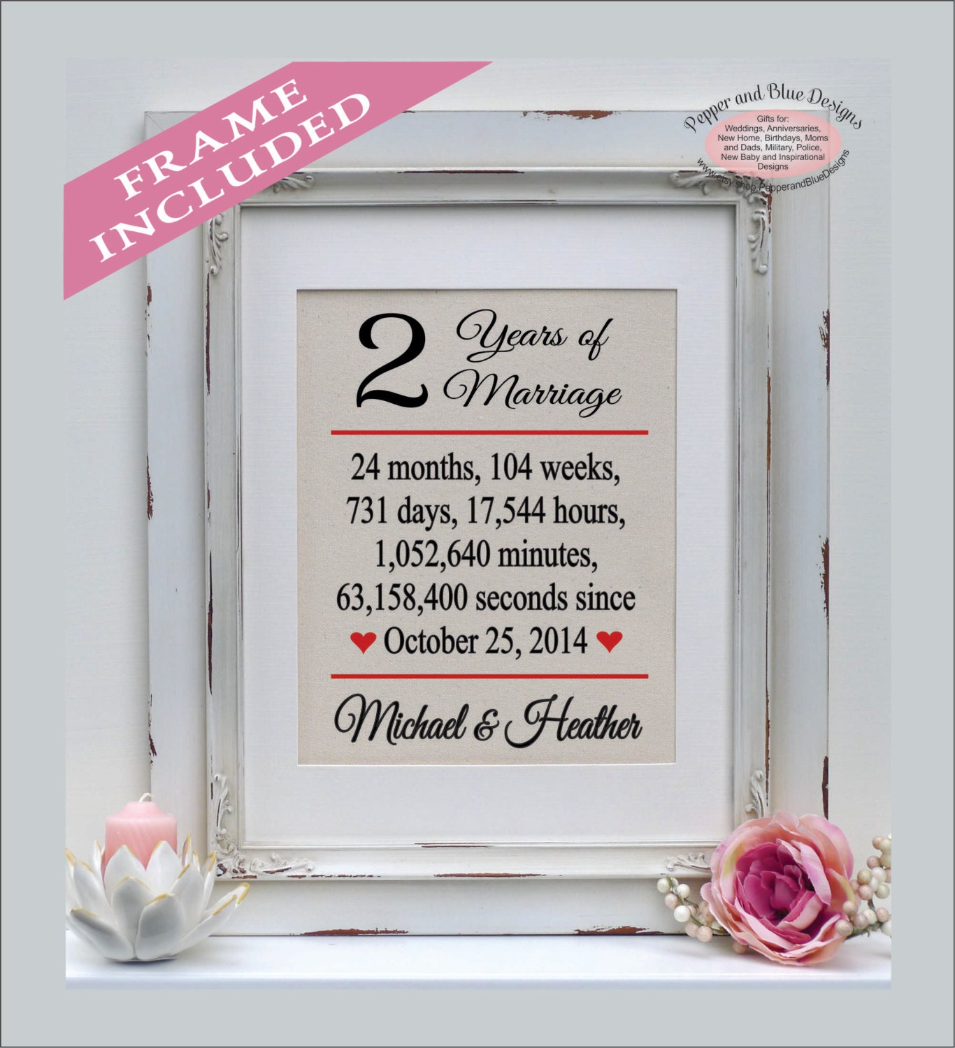 Cotton Wedding Anniversary Gifts: Cotton Anniversary Gift For Her Wedding Date Print Perfect