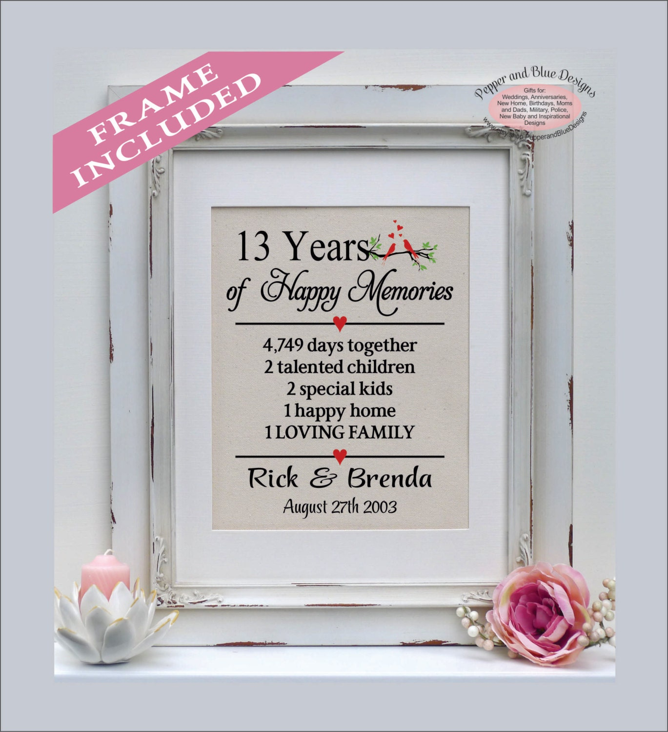 Unique Wedding Anniversary Gifts 13 Years Ideas The Wedding Ideas