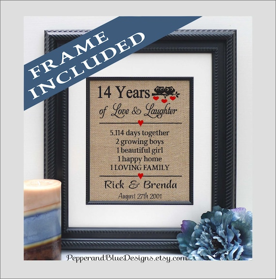 14th Wedding Anniversary Gifts 14 Years Married 14 Years Etsy