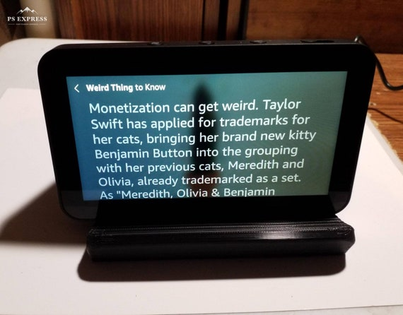 Amazon Echo Show 5 And Show 8 Tilting Stand Black Or Etsy
