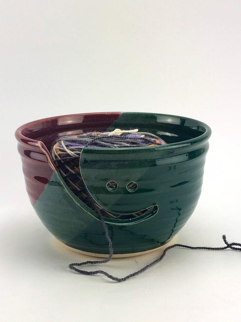 crochet yarn bowl crocheted for knitting bowl knitter ceramic knit bowl container large yarn bowl for crocheting stoneware bowl holder wool
