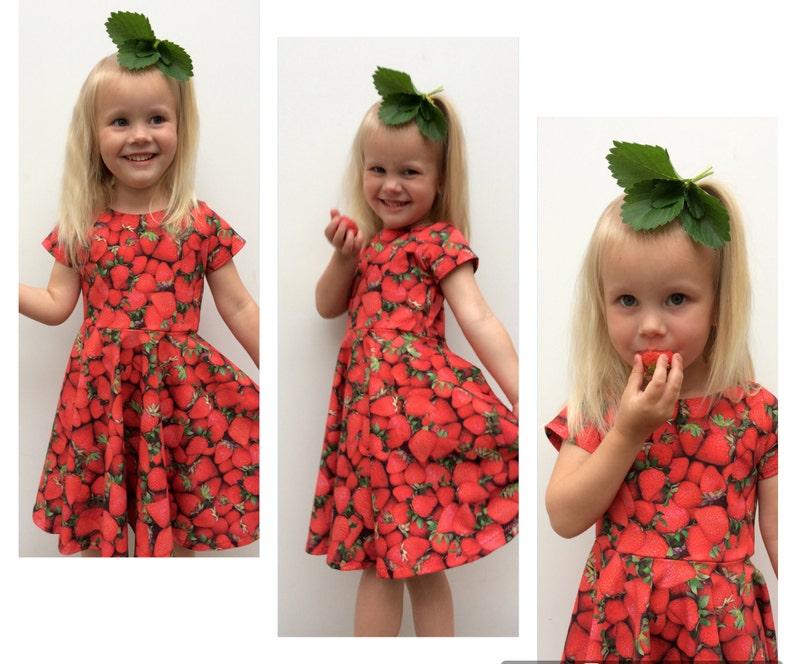 f045ab53a9c1 Strawberry Twirl Dress Red Summer Dress Girls Twirl Dress | Etsy