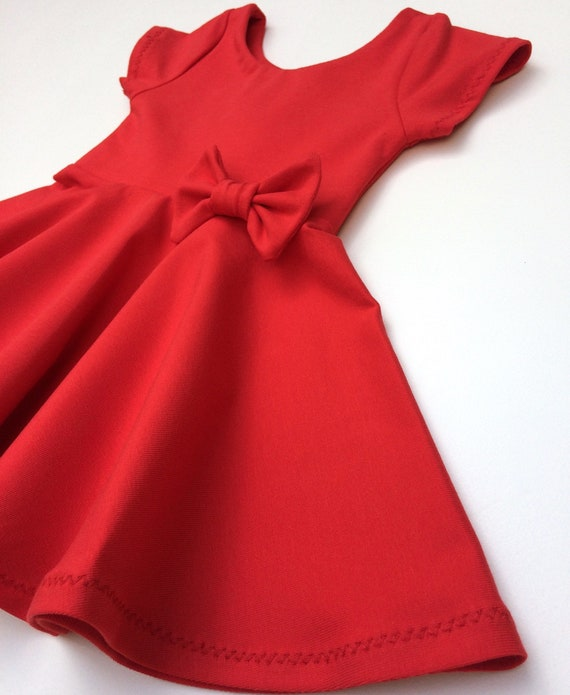 Red Toddler Dress Valentines Day Dress Girls Twirl Dress Etsy