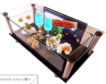 Table Basse Aquarium Etsy