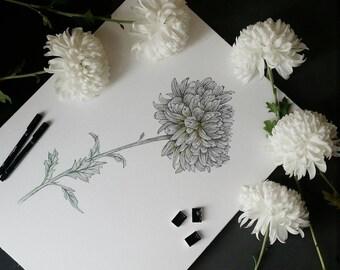 Original flower artwork