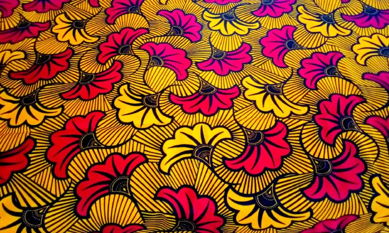 Mothers Day Gift Yellow African Print Fabric Ankara Fabrics Gift For Her Wax Print Fabric Cotton Fabric African Prints