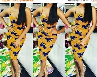 African Ankara Print Dress, Ankara Dress, African Dress, Shaped Ankara Dress, African Fashion, African Clothing.