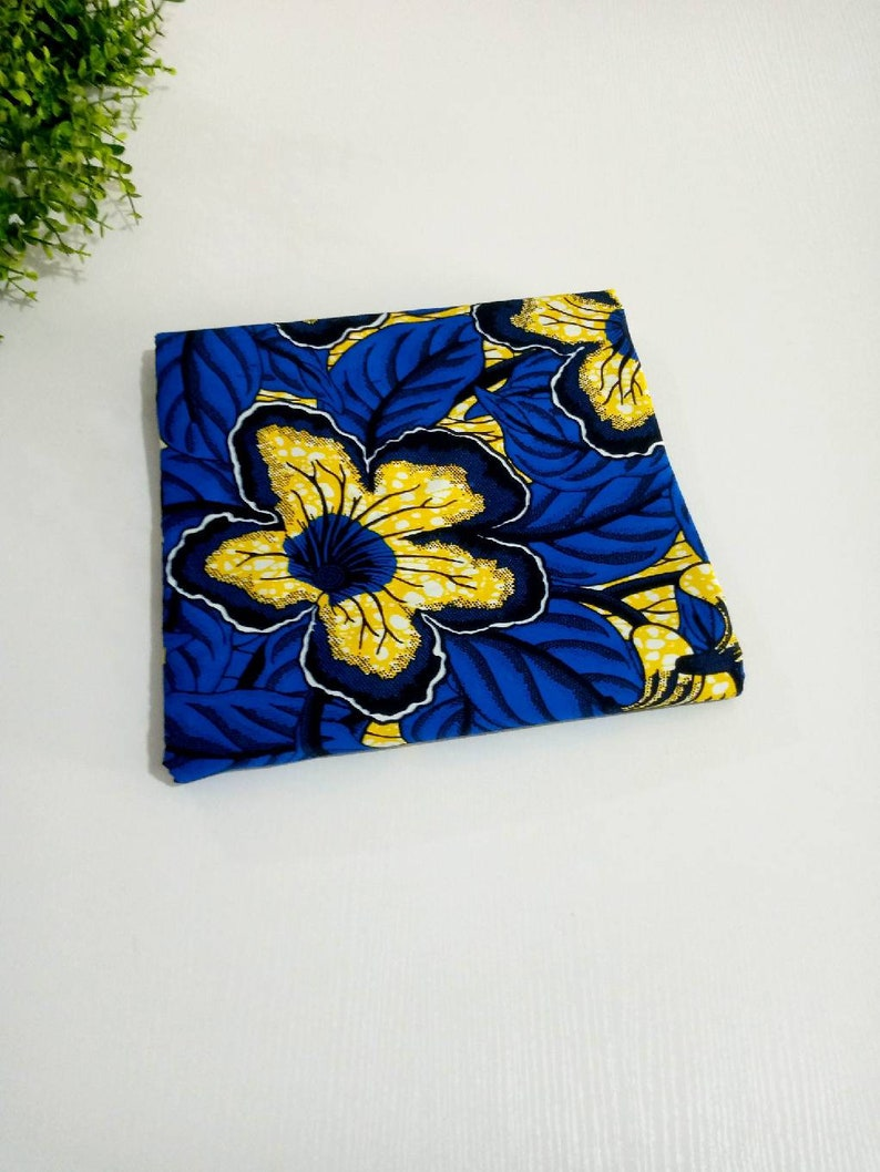 Floral design Dress African Print Patterned Cloth Colorful Cloth Ankara Print Blue African Print Cotton Cloth African Fabric