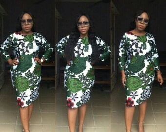 African Ankara Print Dress, Ankara Dress, Short Dress, African Dress, African Dress, Shaped Ankara Dress, African Fashion, Af