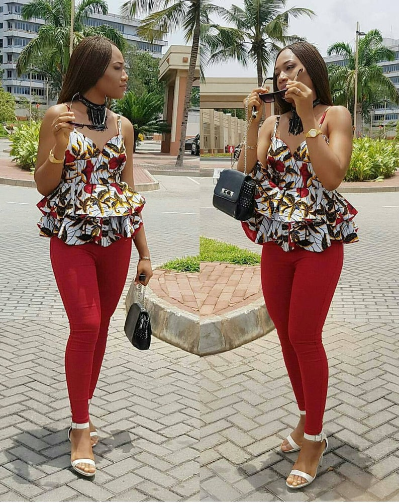 ea1200f15eba8e Ankara Peplum top Ladies Casual top Ankara Dress African