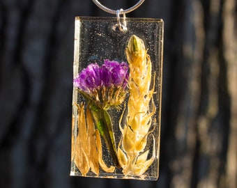Floral Arrangement in Resin Pendant