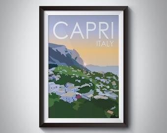 Capri | Italy | Travel Poster | Instant Download