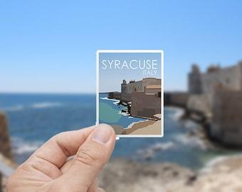 Syracuse | Italy | Sticker | Waterproof | Travel Series