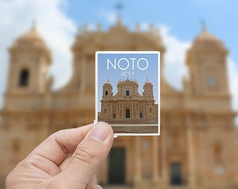 Noto | Italy | Sticker | Waterproof | Travel Series
