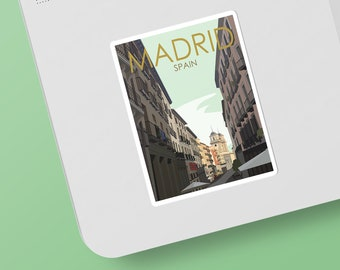 Madrid | Spain | Sticker | Waterproof | Travel Series