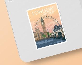 London | England | Sticker | Waterproof | Travel Series