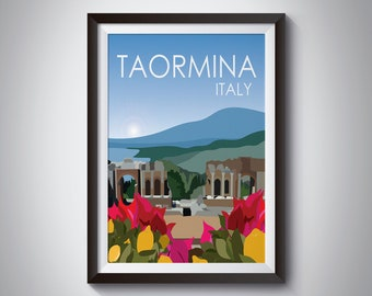 Taormina | Italy | Travel Poster | Instant Download