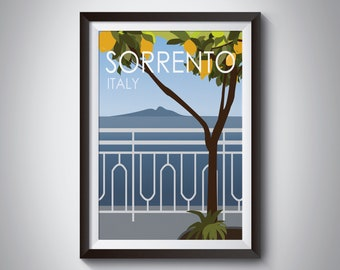 Sorrento | Italy | Travel Poster | Instant Download