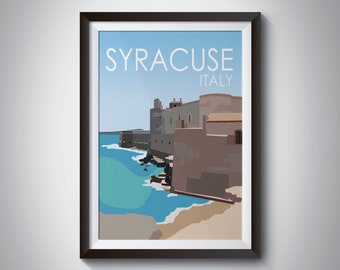 Syracuse | Italy | Travel Poster | Instant Download