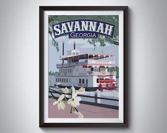 Savannah | Georgia | Travel Poster | Instant Download