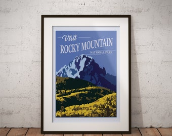 Rocky Mountain | National Park Series | Instant Download