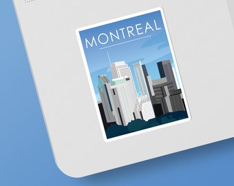 Montreal | Canada | Sticker | Waterproof | Travel Series