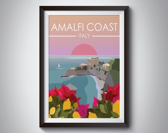 Amalfi Coast | Italy | Travel Poster | Instant Download