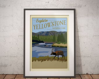 Yellowstone | National Park Series | Instant Download