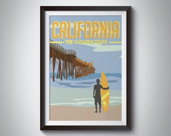 California | Travel Poster | Instant Download