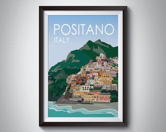 Positano | Italy | Travel Poster | Instant Download