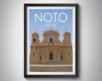 Noto | Italy | Travel Poster | Instant Download