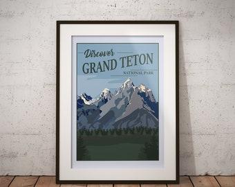 Grand Teton | National Park Series | Instant Download