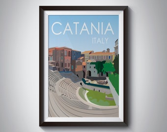 Catania | Italy | Travel Poster | Instant Download
