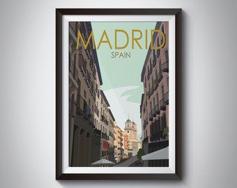 Madrid | Spain | Travel Poster | 2 Versions | Instant Download