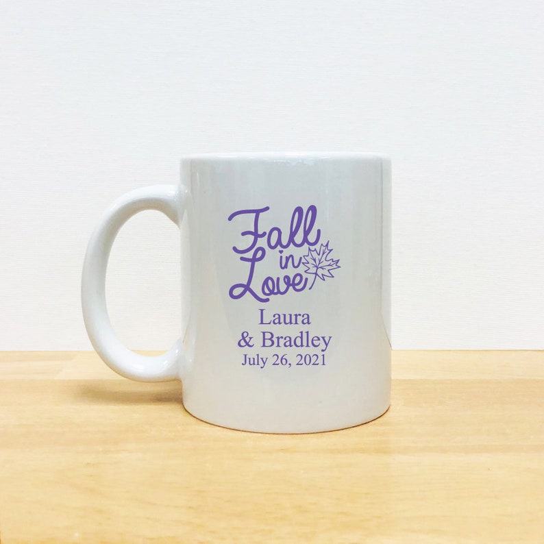 Customized \u2022 24 pcs \u2022 Seashell White Ceramic Coffee Mugs with Handle \u2022 Party Favors \u2022  EDPP3Z