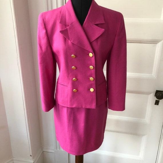Liz Claiborne Pink 1980s Suit